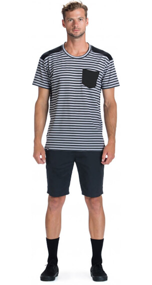 Mons Royale M's Pocket Tee Black Stripe/Black